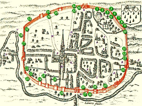 Town plan by John Speed, 1610.