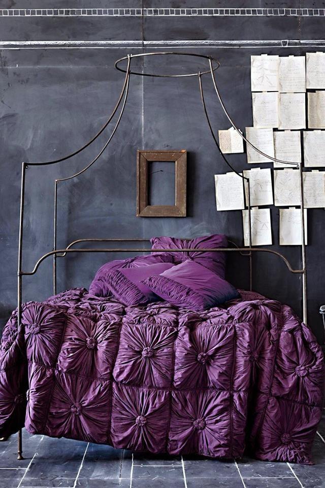 Die besten 25+ Lila und graue bettwäsche Ideen auf Pinterest - farbgestaltung fur schlafzimmer das geheimnisvolle lila