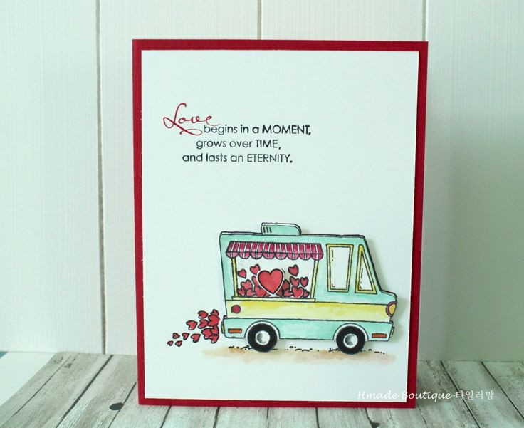 Tasty Valentine Truck by islandyu - Cards and Paper Crafts at Splitcoaststampers