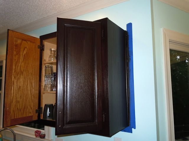 Confessions Of A Semi Domesticated Mama: How To Gel Stain Your Kitchen  Cabinets