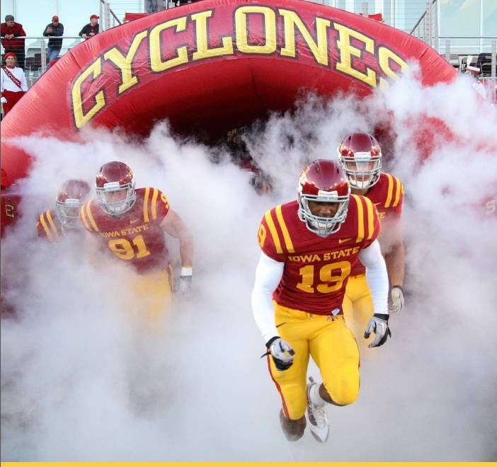 Iowa State University Cyclones - football game-time team entrance