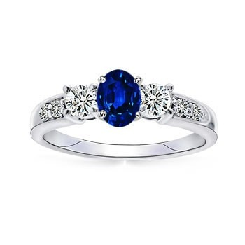 Angara Ceres Carved Shank Tanzanite Vintage Ring in Platinum ipD50