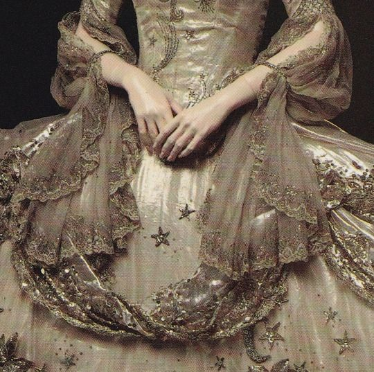 mademoisellelapiquante: Detail of costume made by Adrian for Marie Antoinette - 1938