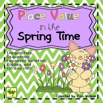 PLACE VALUE IN THE SPRING TIME Brighten up your 2nd grade centers with this set of 3-digit number place value tasks!These easy to prepare activities offer time to polish up those place value skills and make review and learning FUN, hands-on, and interactive!