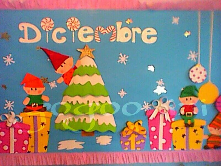 M s de 25 ideas incre bles sobre periodico mural en - Murales decorativos de navidad ...