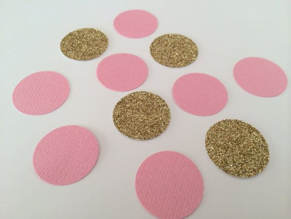 Gold glitter and pink confetti. Perfect by SnowflakeDesigns2015