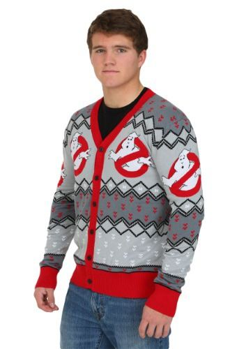 This Ghostbusters Mens Cardigan Sweater is perfect for any Ghostbusters fan! Who you gonna call this Christmas? Ghostbusters!