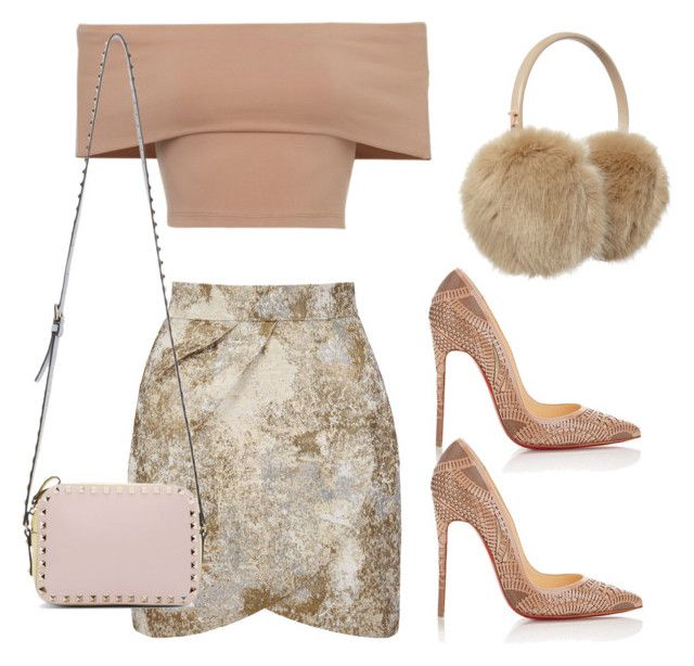 """""""Scream Queens"""" by dceee ❤ liked on Polyvore featuring Yumi, Christian Louboutin, Ted Baker and Valentino"""