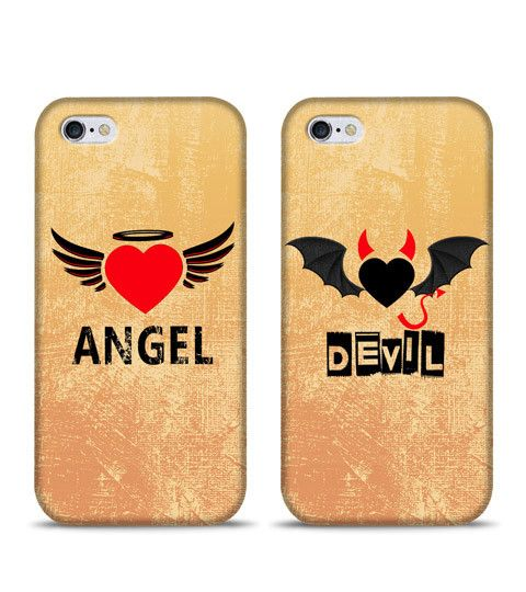 Buy Angle And Devil couple infinity phone cases Online in India