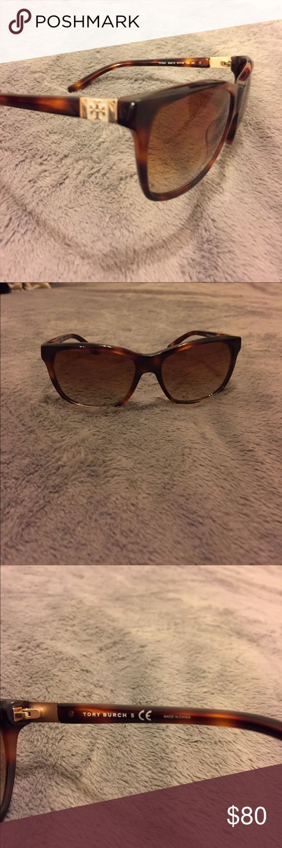 Tory Burch polarized gradient tortoise sunglasses Tory Burch polarized sunglasses. Tortoise frames with gold T logo on corners. Gradient lenses. No signs of use. Unfortunately don't have the case anymore. Great condition! Tory Burch Accessories Sunglasses