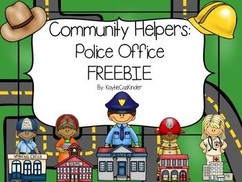 If you are getting ready to teach your kiddos all about different Community Helpers and how they impact our community this FREEBIE is the perfect way to kick off your unit.Included:Police Office 1/2 page  picture cards (Color and B&W)Police Office Label and Job description cardsWho works at the...