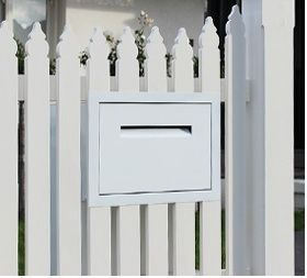 Integrated Fence Mailbox Slot Google Search Fence