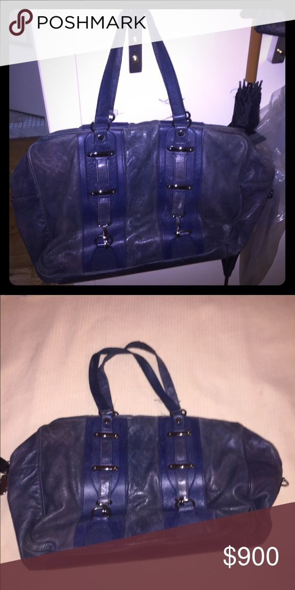 Terrific oversized navy Balenciaga handbag This bag is still amazing - though used, it's worth it's price and has been a perfect piece for 5 years for me. Balenciaga Bags Satchels