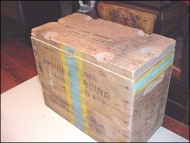 Nautical wood crates for sale | Item:6450367 WW2 WOOD AMMO BOX .30 AP M2 1500 ROUND BOX WW2 For Sale ...
