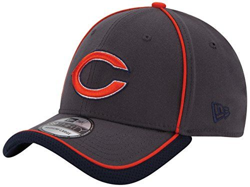 New Era NFL Graphite Team Takedown 3930 Flex Fitted Hat  http://allstarsportsfan.com/product/new-era-nfl-graphite-team-takedown-3930-flex-fitted-hat/?attribute_pa_teamname=chicago-bears&attribute_pa_size=small-medium  NFL 2014 On Field Reverse Team Color 39Thirty Flex Fit Cap Features Performance Coolera Fabric for advanced moisture wicking Solarera Fabric for sun protection