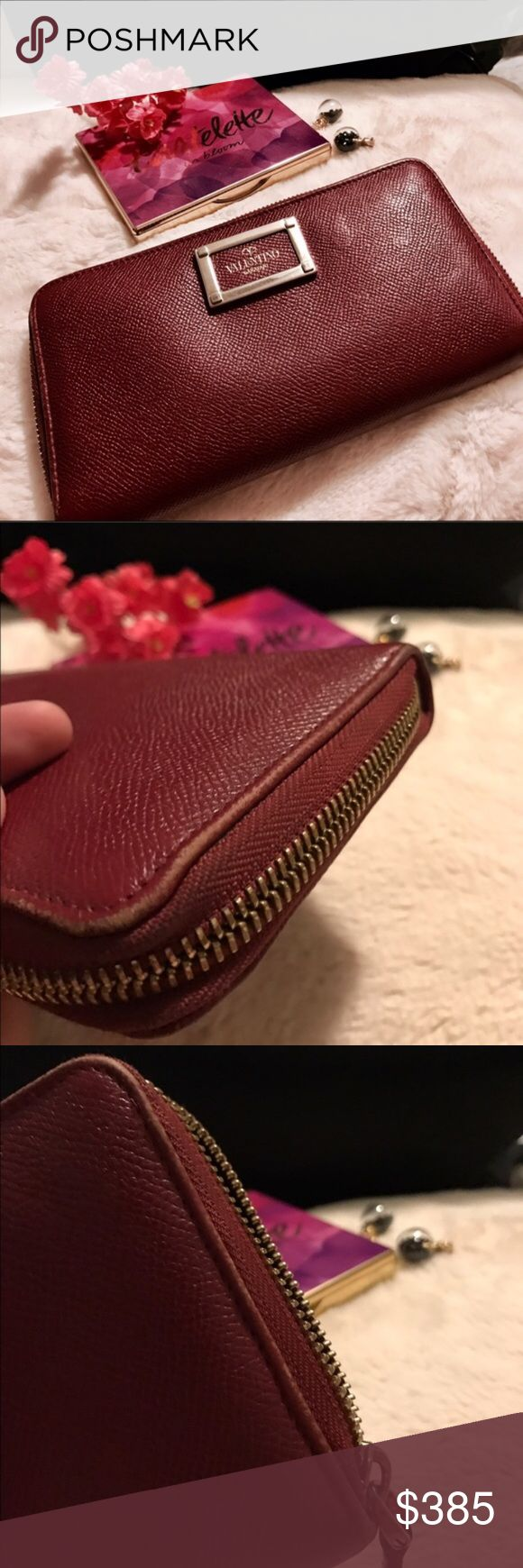 Sale 💋Valentino Garavani Wallet Beautiful deep red VG wallet. She has been used plenty of times. She does have signs of rub and may need a clean. Zipper is a bit tough but works perfect. 7 out of 10 in my opinion. I do trade, otherwise offers welcome (TV higher) Valentino Garavani Bags Wallets