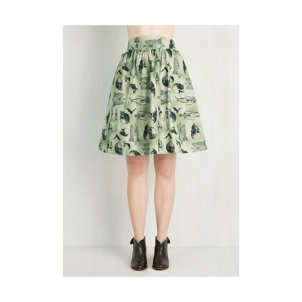 Skulls Mid-length Full Style Study Skirt ($60) ❤ liked on Polyvore featuring skirts, apparel, bottoms, full skirt, green, skull skirt, ruched skirt, gathered skirt, full cotton skirt et mid length skirts