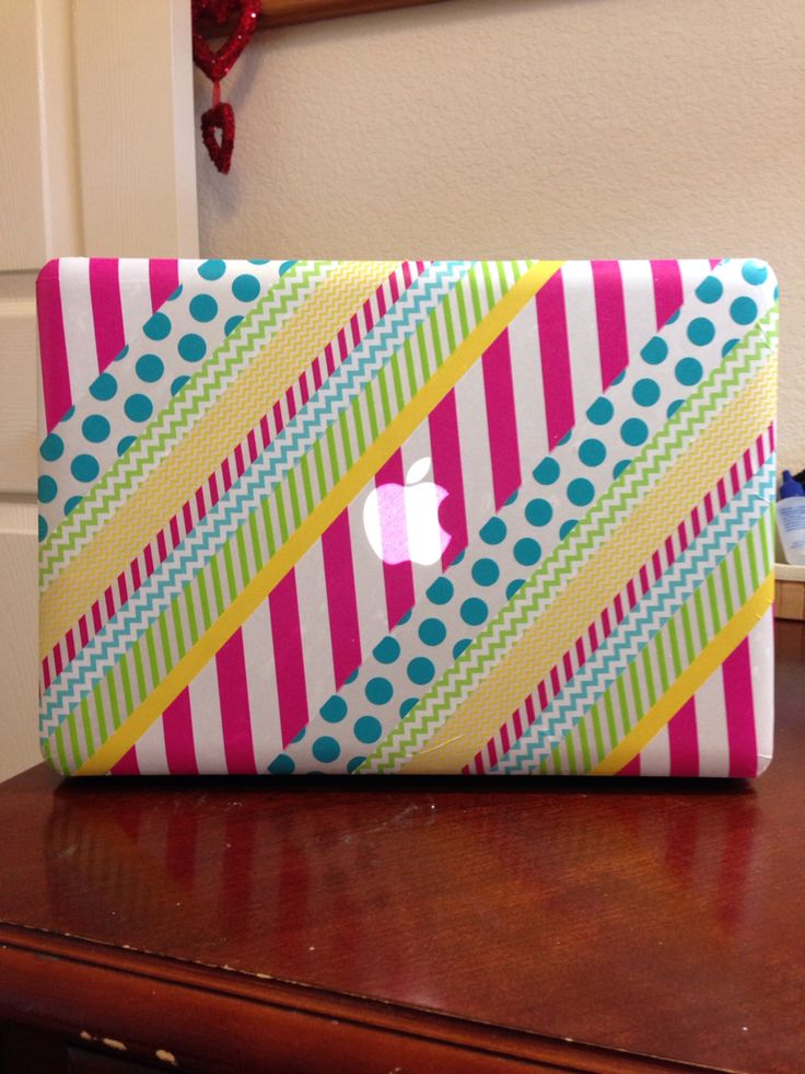 Washi tape laptop cover More