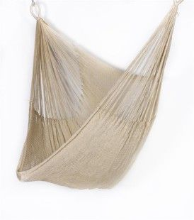 Weather-resistant, super-soft chair hammock, handwoven in Thailand ($149 from Yellow Leaf Hammocks)