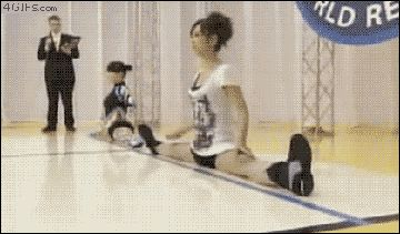 Japanese split race (gif) I don't even know what to think about this