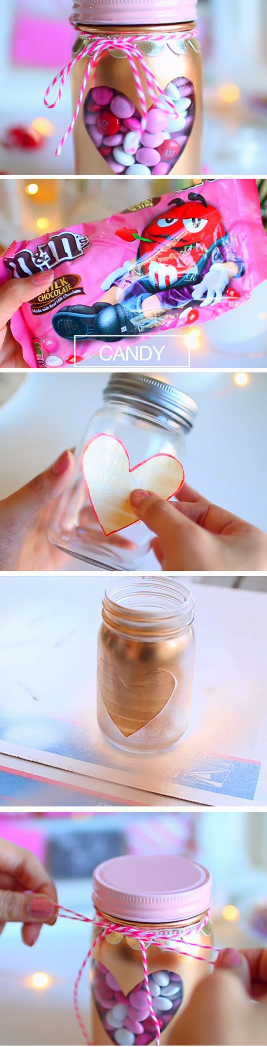 Candy Jar | DIY Valentines Day Gifts for Him | Cheap Valentines Ideas for Boyfriends