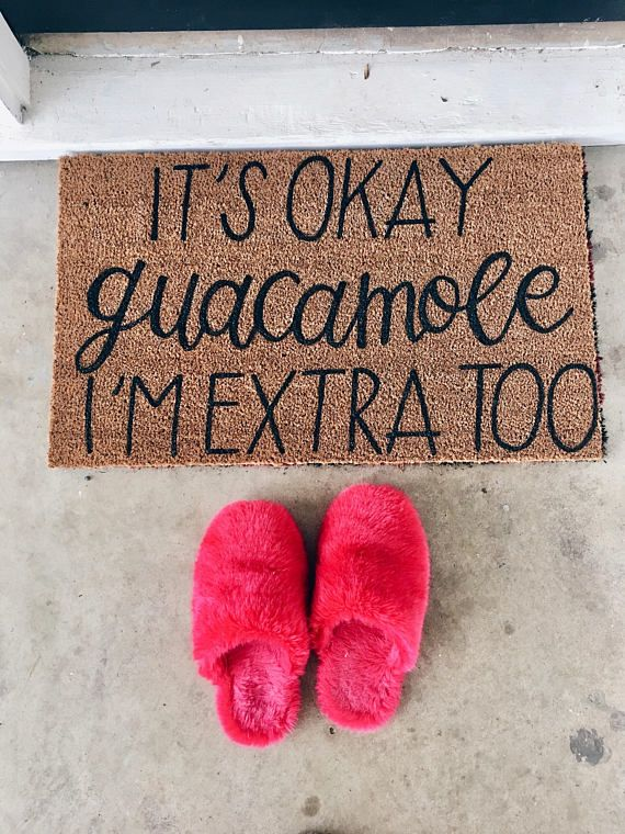 This listing is for one of our fun, handlettered welcome mats. These are made with love in a small studio in Waco, TX and add a personalized touch to your front porch! This welcome mat features black calligraphy style lettering against a coir, outdoor mat. These mats are easy to