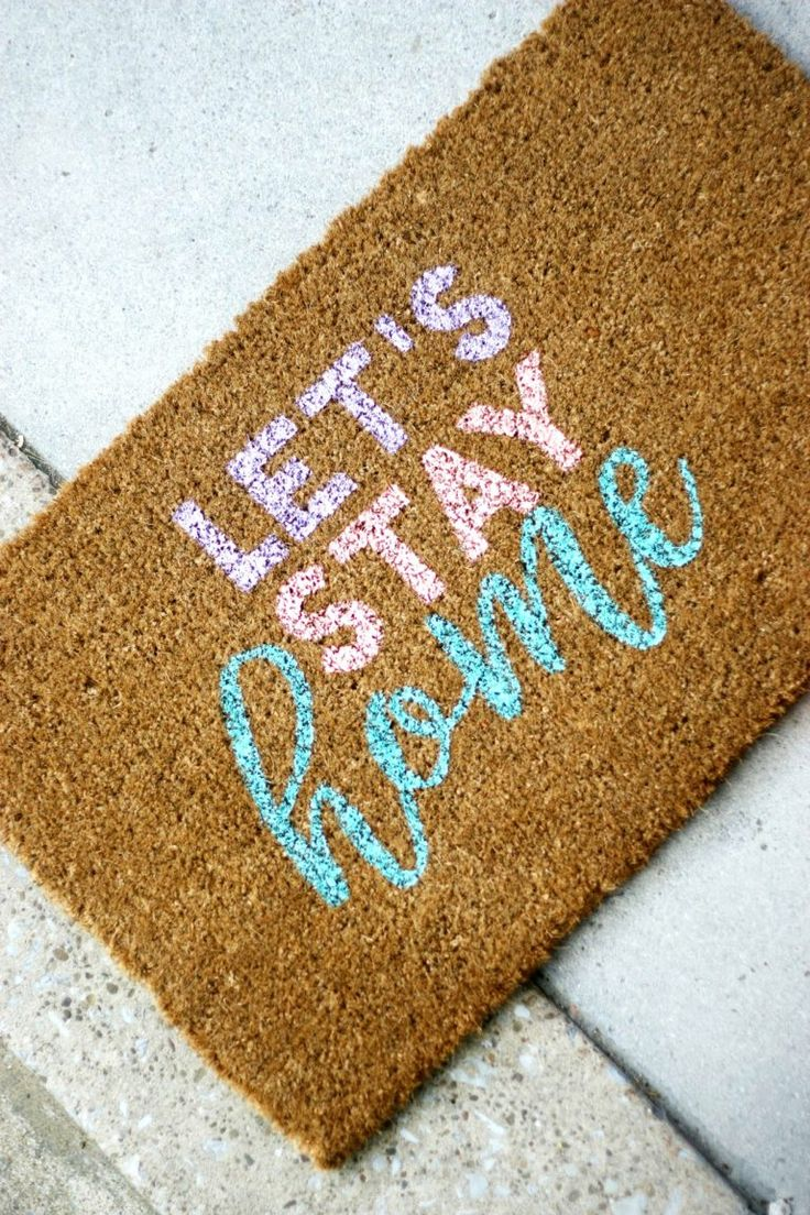 Make a customized doormat for your home.