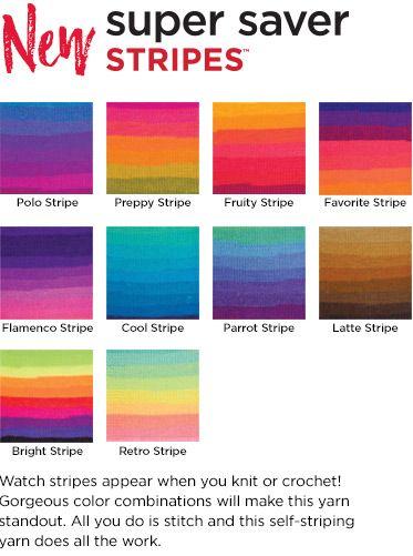 Super Saver Stripes Yarn | Red Heart