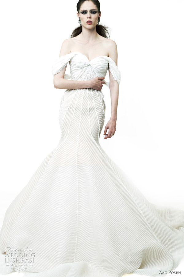 Zac Posen, Resort 2012 Beautiful white dress. So why does this girl look so pissed?!
