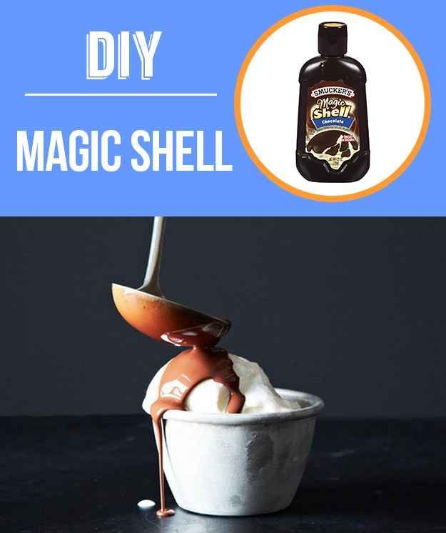 19 DIY foods....definitely have to do the hard shell...who knew the secret was coconut oil?!
