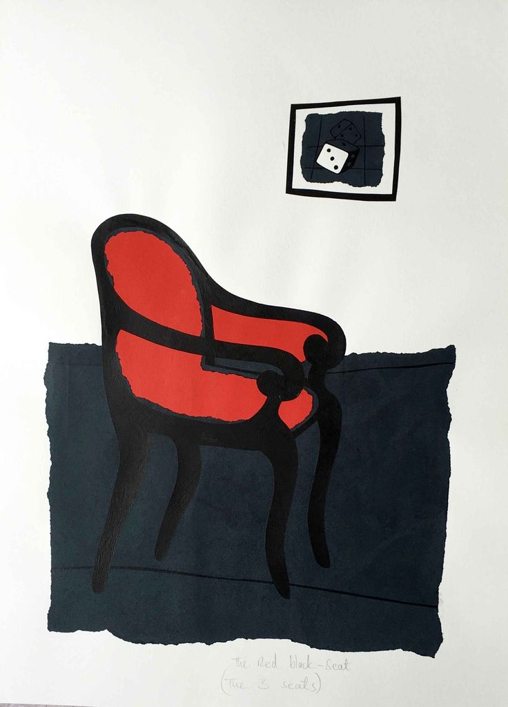 David Thuku, 'Empty Seats (The Red Chair)', 2016, Paper cut, paper collage and sgraffito on paper, 75 x 55cm, Courtesy of ARTLabAfrica
