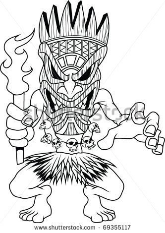 tiki man coloring pages - photo#10