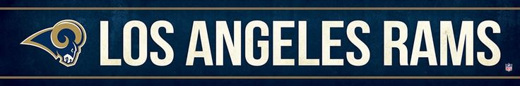 Los Angeles Rams Street Banner $19.99