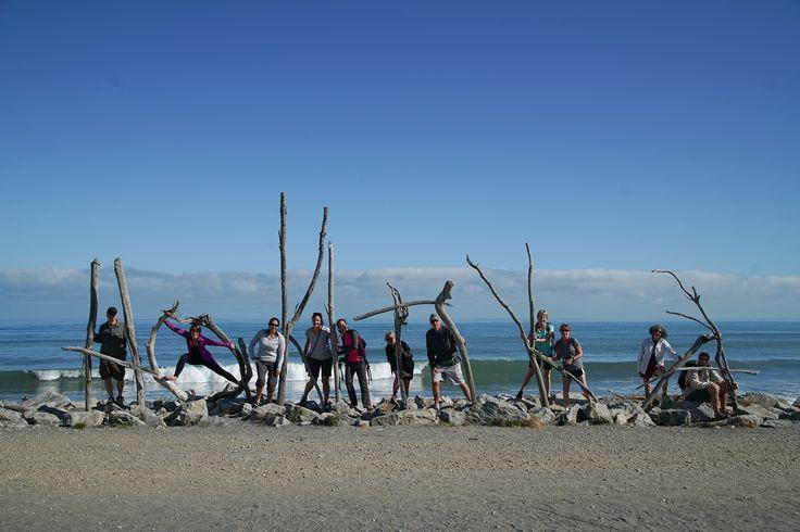 The famous Hokitika driftwood sign.    #newzealand #activenewzealand #hikingnewzealand