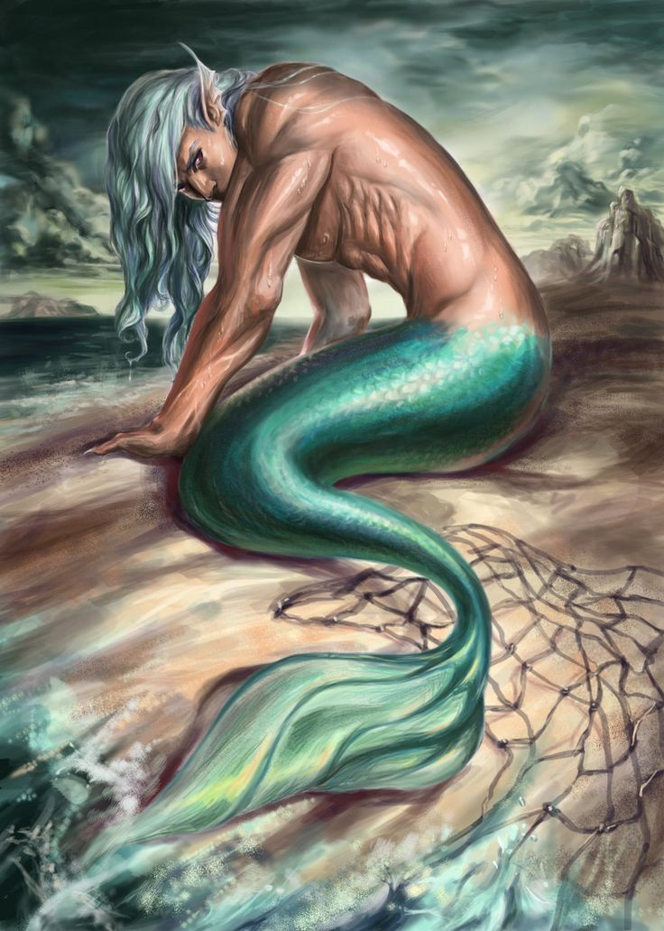 Mermaid Isolated Topless
