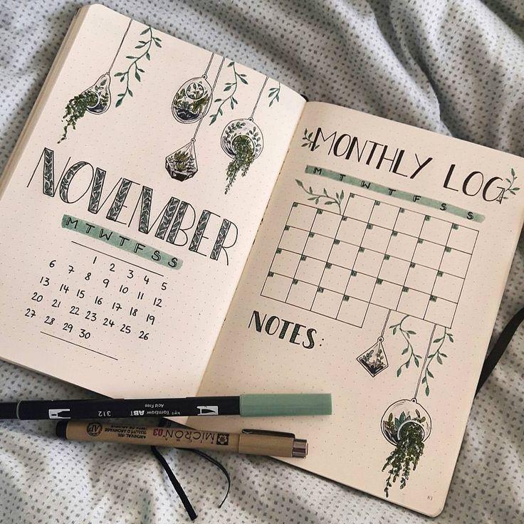 Ein weiteres schönes November Cover für mein Bullet Journal #bujo