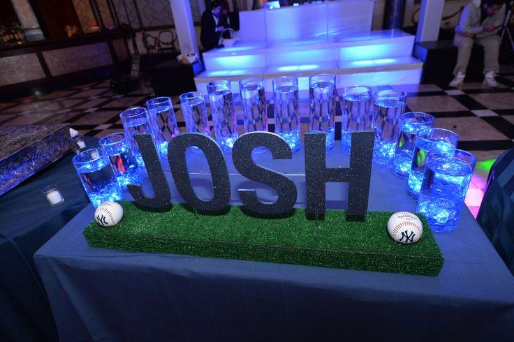 Baseball Themed Candle Lighting Display Baseball Themed Candle Lighting Display with LED Lights & Floating Candles