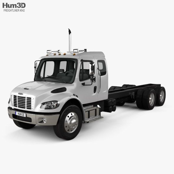 Freightliner M2 Extended Cab Chassis Truck 3 Axle 2014 Extended Cab Freightliner Cab