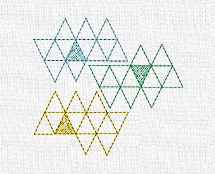 amp 187 geometric multicoloured triangles - photo #11