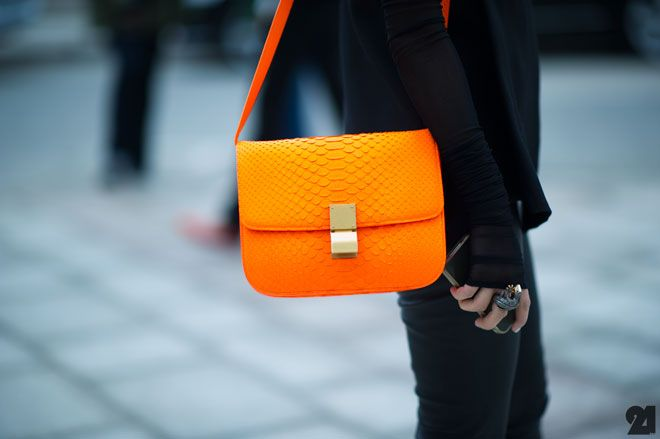 The season's color.... (or making your bag safe from pick-pockets)