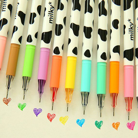 Sales 12/PACK Assorted color Milky dairy cow print by mycraft2014 (6,68€ + postit)