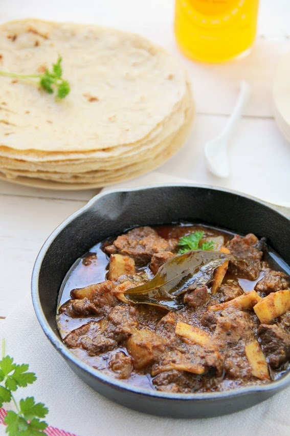 A Kerala recipe for Grandma's  Slow cooked Naadan Beef curry