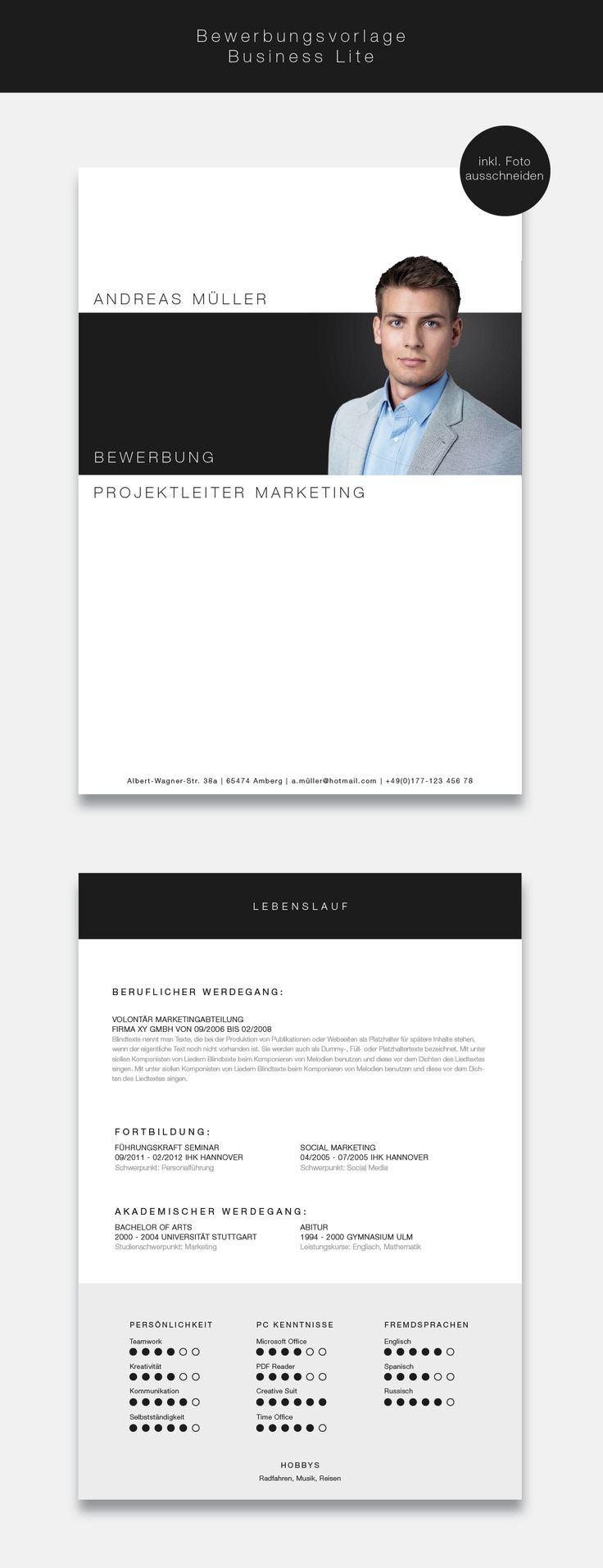"""Ab jetzt neu in unserem Shop. Dir Bewerbungsvorlage (cv template) """"Business Lite"""" in der Farbe Phantom Black. Mit der stilsicheren Vorlage """"Business Lite"""" heben sie sich von allen anderen ab und zeigen, dass kein Weg an Ihnen vorbeiführt. Sie erhalten von uns ein Deckblatt, Anschreiben, Lebenslauf, Motivationsschreiben und eine Abschlussseite. Die Datei bekommen Sie als fertige Pages- oder Word-Datei inklusive Platzhaltertext mit Hinweisen. #grafikdesign"""