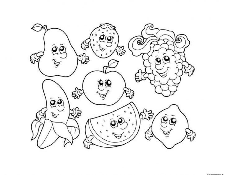 21 Amazing Image Of Fruit Coloring Pages Fruit Coloring Pages