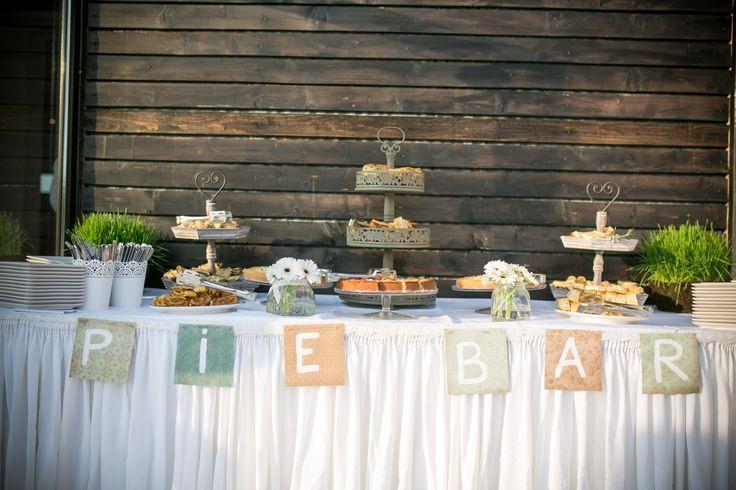 Pie bar. My outdoor summer wedding.