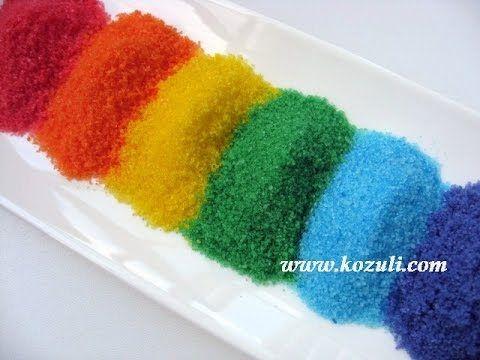 Как сделать цветной сахар / How to make colored sugar