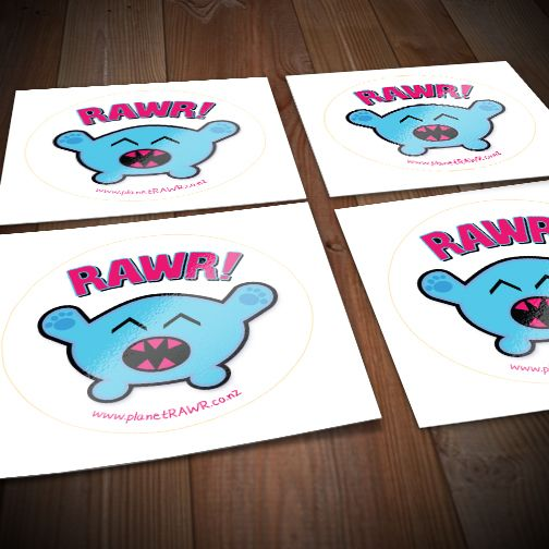 Planet rawr 60mm glosspaper stickers order
