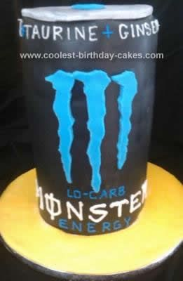 Homemade Monster Energy Drink Cake: This Homemade Monster Energy Drink Cake was requested by a dear friend of mine. I was so excited to do this Lo Carb Monster Energy Drink because that's