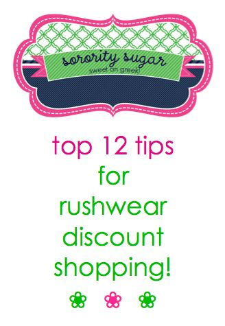 shopping for recruitment can get really expensive for PNMs and active sisters. shop discount • shop smart and SAVE! <3 BLOG LINK: http://sororitysugar.tumblr.com/post/55350078874/countdown-to-recruitment-top-12-tips-for-shopping#notes