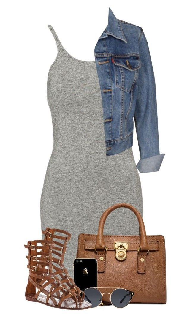 """Untitled #1064"" by missglamfashionz ❤ liked on Polyvore featuring T By Alexander Wang, Michael Kors, Levi's, A.J. Morgan and Tory Burch"